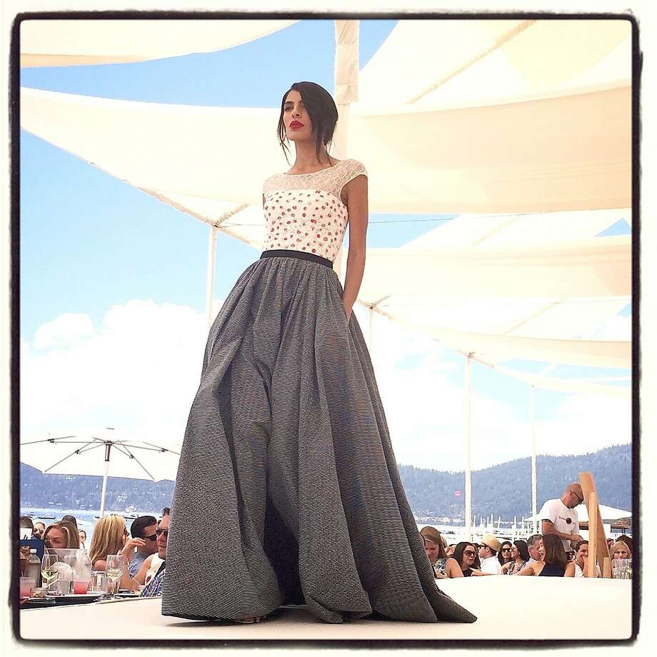 A look from the Oscar de la Renta Resort 2016 Collection at the League to Save Lake Tahoe fashion show. Photo: Catherine Bigelow, Special To The Chronicle