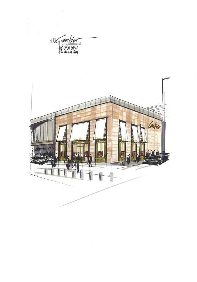 A drawing of the new Cartier boutique at River Oaks District Photo: Cartier