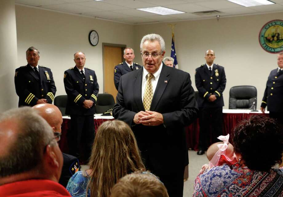 Troy Mayor Lou Rosamilia in Troy City Hall on Monday, August 3, 2015, in Troy, N.Y., at a promotion ceremony. (Olivia Nadel/ Special to the Times Union) Photo: ON / 10032852A