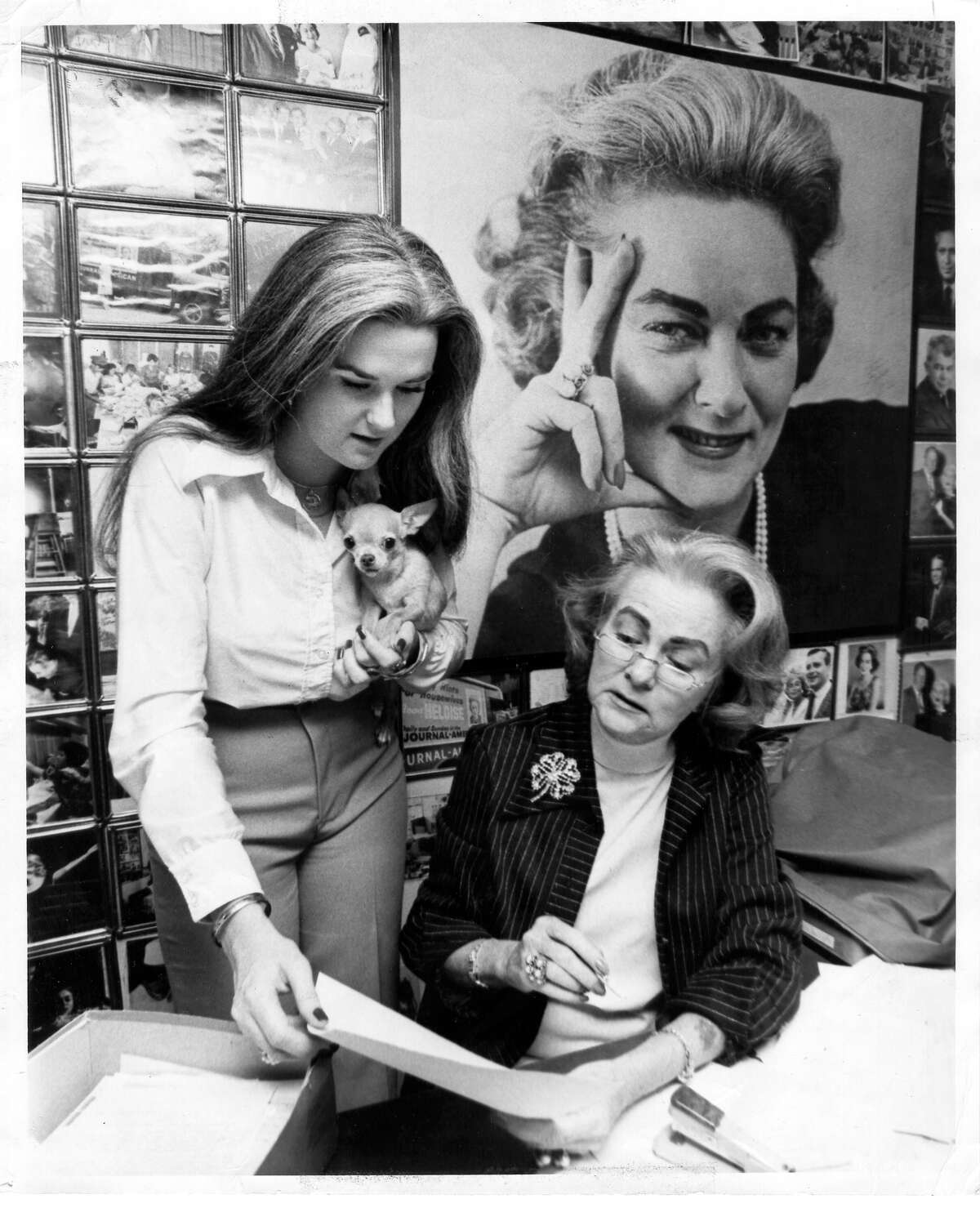 """Nationally syndicated columnist Heloise, left, is pictured with her mother, Eloise, the original creator of the """"Hints From Heloise"""" newspaper column."""