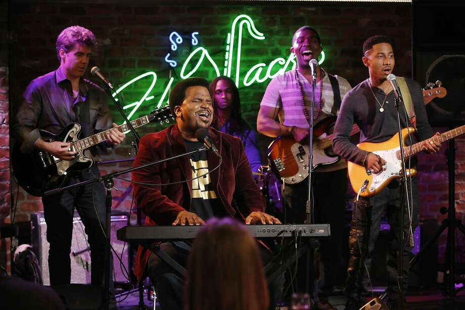 """The Office"" and ""Hot Tub Time Machine"" star Craig Robinson (center) plans to flex his musical skills at Cobb's Comedy Club. Photo: Nbc"
