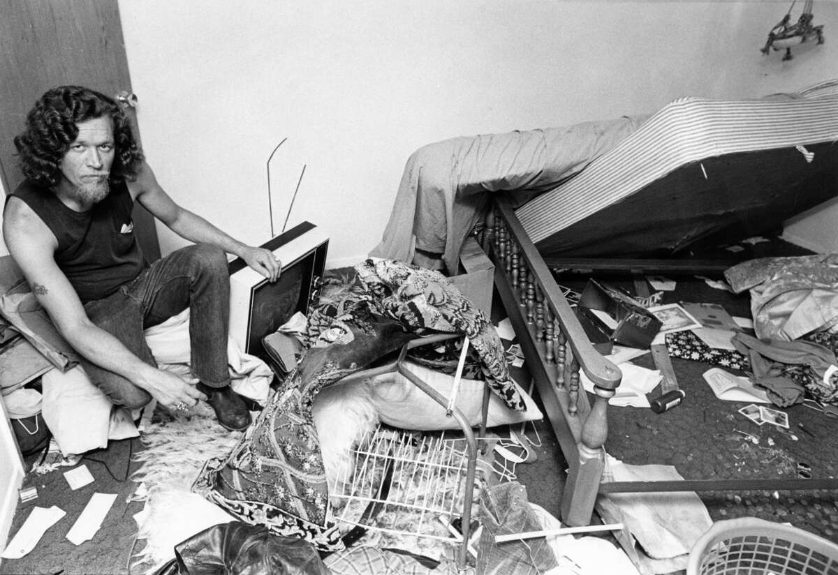 07/12/1973 - Self-professed Bandidos member Charles Douglas Graybow claims juvenile officers and uniformed police wrecked his home while serving a warrant. Graybow says officers