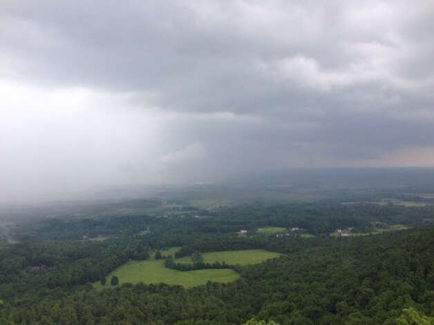 Thunderstorms roll over the escarpment at Thacher Park in New Scotland. (Tom Brennan / Times Union archive)
