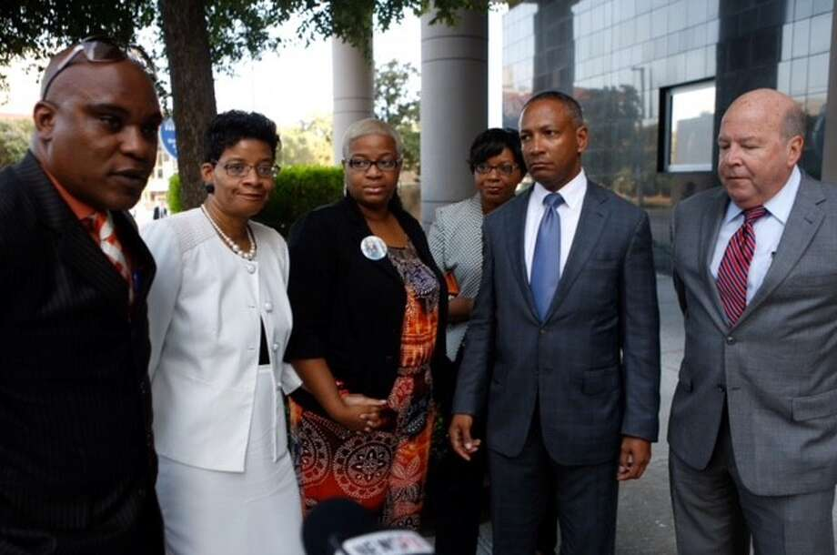 The family of Sandra Bland filed a lawsuit Tuesday, Aug. 4, 2015, at a federal court in Houston against the DPS trooper they believe is responsible for the 28-year-old woman's death. Photo: Cody Duty, Houston Chronicle