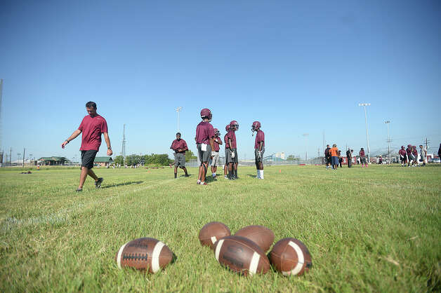Central High School runs drills as they get ready for the coming ...