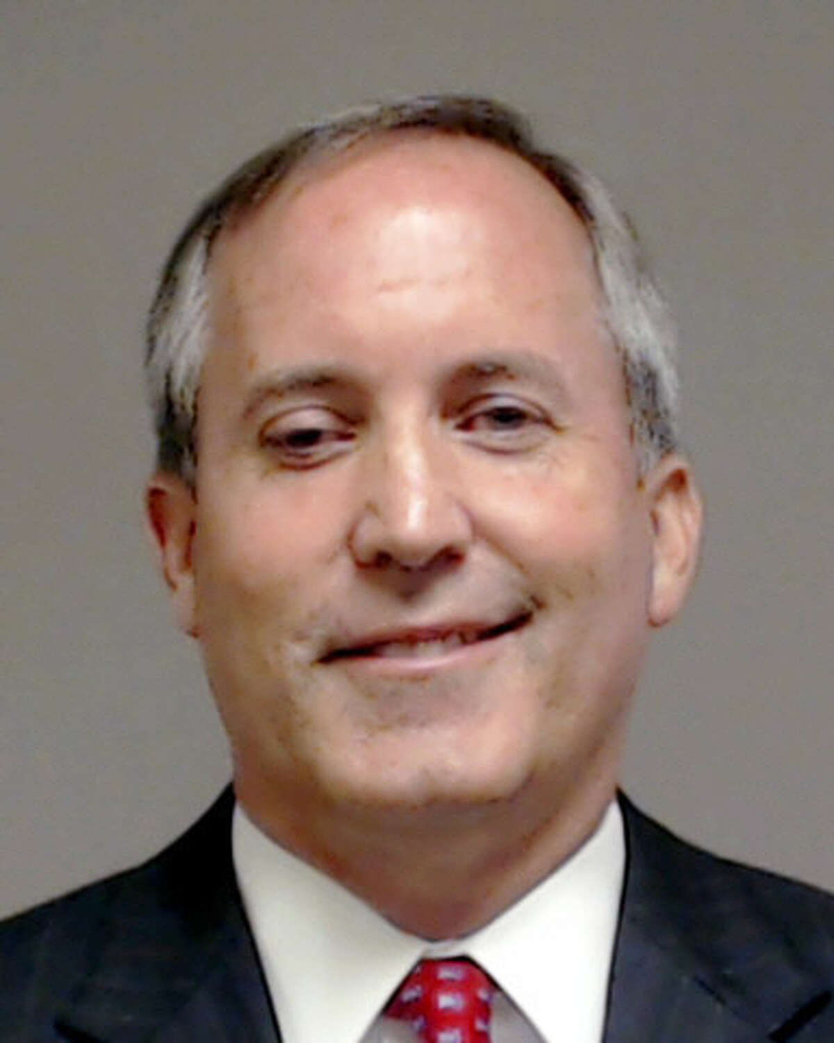 This handout photo provided by Collin County, Texas shows Texas Attorney General Kenneth Paxton, who was booked into the county jail Monday, Aug. 3, 2015, in McKinney, Texas. A grand jury last week indicted Paxton on felony securities fraud charges. (AP Photo/Collin County via AP)