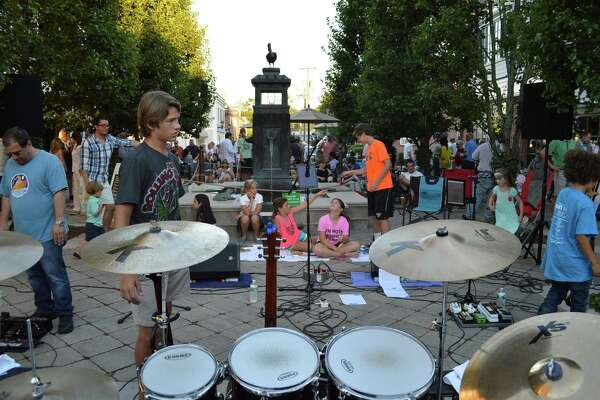 The Grove Street Plaza was packed for Friday's concert. PHOTO BY JARRET LIOTTA