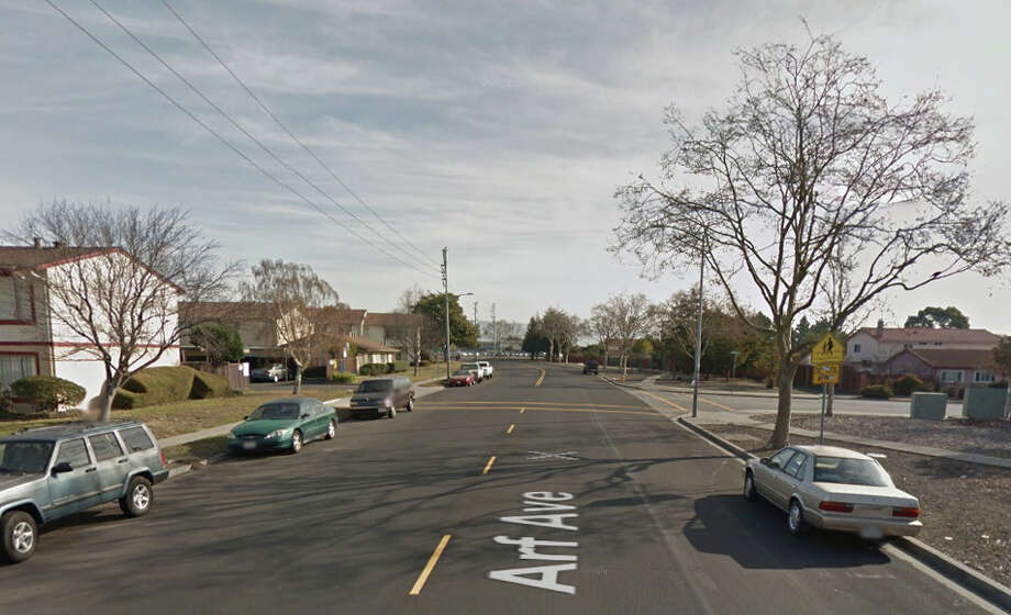 A man walking on a Hayward street was shot to death early Tuesday near Art Avenue and Morningside Drive. Photo: Google Maps