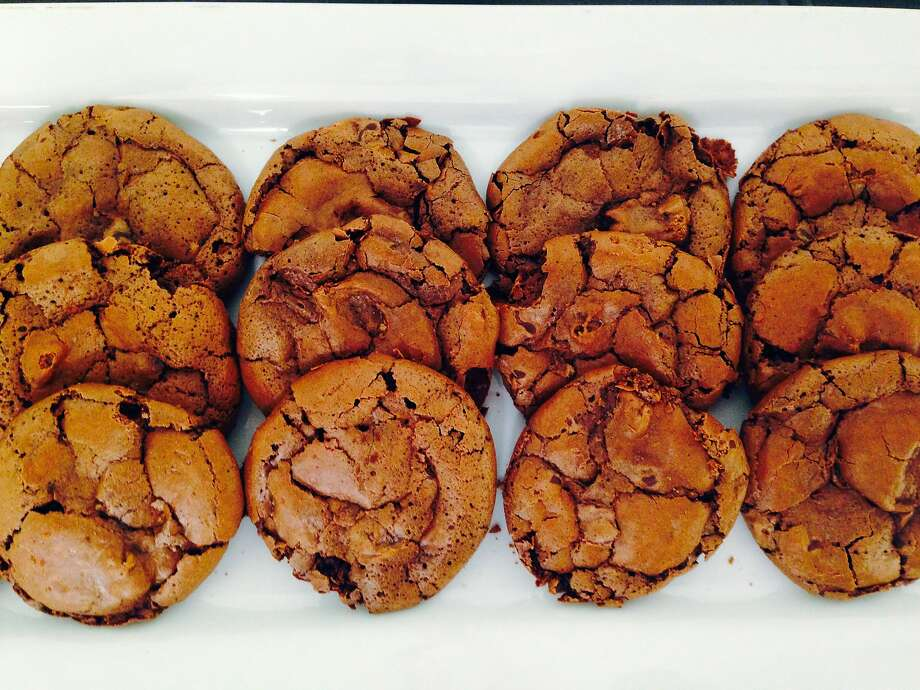 Molten Chocolate Chip cookies and other baked goods made with Coffee Flour are served regularly at Google in Mountain View Photo: Bon Appetit Management Company
