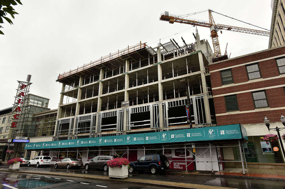 Seaboard Properties is working on constructing a Residence Inn Marriott on Atlantic Street in Stamford. Photographed on Tuesday, July 14, 2015. Photo: Jason Rearick / Hearst Connecticut Media / Stamford Advocate