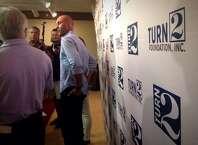 Derek Jeter speaks to reporters at Siena College on Tuesday. (Paul Buckowski / Times Union)