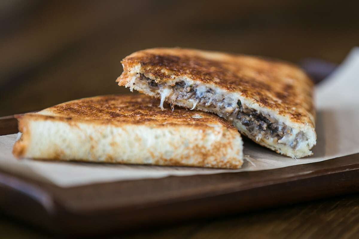Grilled cheese with mushroomsat B. On The Go.