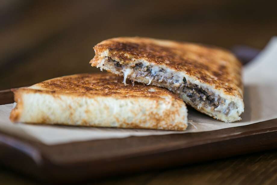 Grilled cheese with mushrooms at B. On The Go. Photo: Jen Fedrizzi, Special To The Chronicle