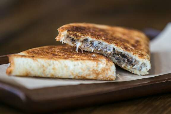 Grilled Cheese sandwich with mushrooms at B. On The Go, in San Francisco, Calif. on Thursday, July 30, 2015.
