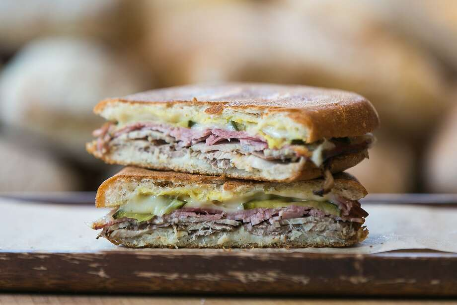 A stacked Cubano sandwich at B. on the Go. Photo: Jen Fedrizzi, Special To The Chronicle