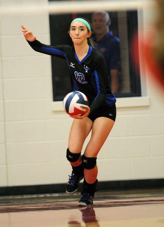 Katy Taylor middle blocker Zoe Neverdowski is a key returnee for head coach Brooke Plemons. Photo: Jerry Baker, Freelance