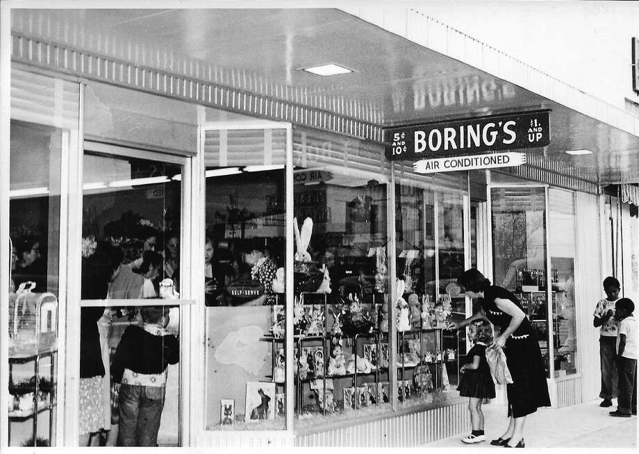 "A mother and daughter in the mid-1950s admire the Easter window display at  Boring's Variety Store, which was on Main Street in Rosenberg. This photo is on the cover of the new book ""Images of America: Historic Downtown Rosenberg.""      A mother and daughter in the mid-1950s admire the Easter window display at  Boring's Variety Store, which was on Main Street in Rosenberg. This photo is on the cover of the new book ""Images of America: Historic Downtown Rosenberg."" Photo: Anne Boring , Heather Boring Hartt"
