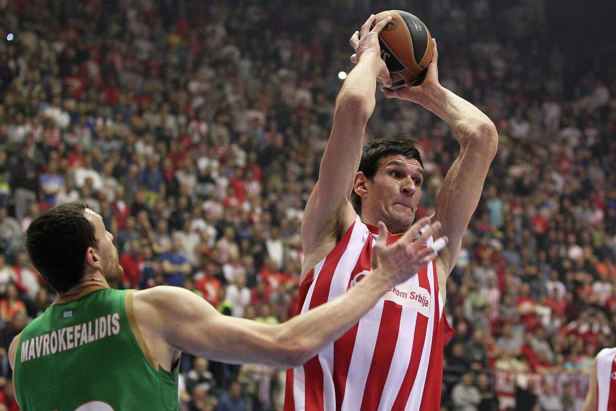 Boban Marjanovic, a 7-foot-3 center who signed a one-year, $1.2 million deal with the Spurs in July, will be barred from this summer's FIBA Eurobasket competition due to an ankle injury.