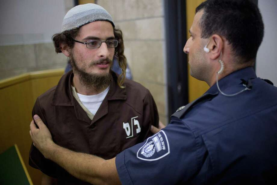 Meir Ettinger appears in a Nazareth court. He was wanted by Shin Bet, Israel's internal security agency. Photo: Ariel Schalit / Ariel Schalit / Associated Press / AP
