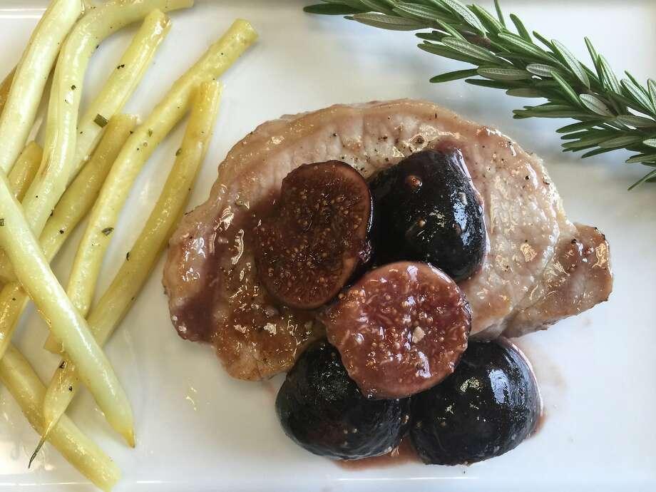 Pork Chops with Glazed Figs Photo: Amanda Gold