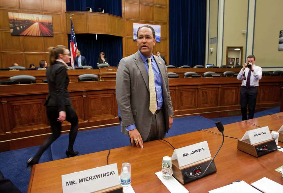 House Information Technology subcommittee Chairman Rep. Will Hurd, R-Texas arrives on Capitol Hill in Washington, Wednesday, March 18, 2015, before the subcommittee's hearing on Cybersecurity. (AP Photo/Pablo Martinez Monsivais) Photo: Pablo Martinez Monsivais, STF / Associated Press / AP