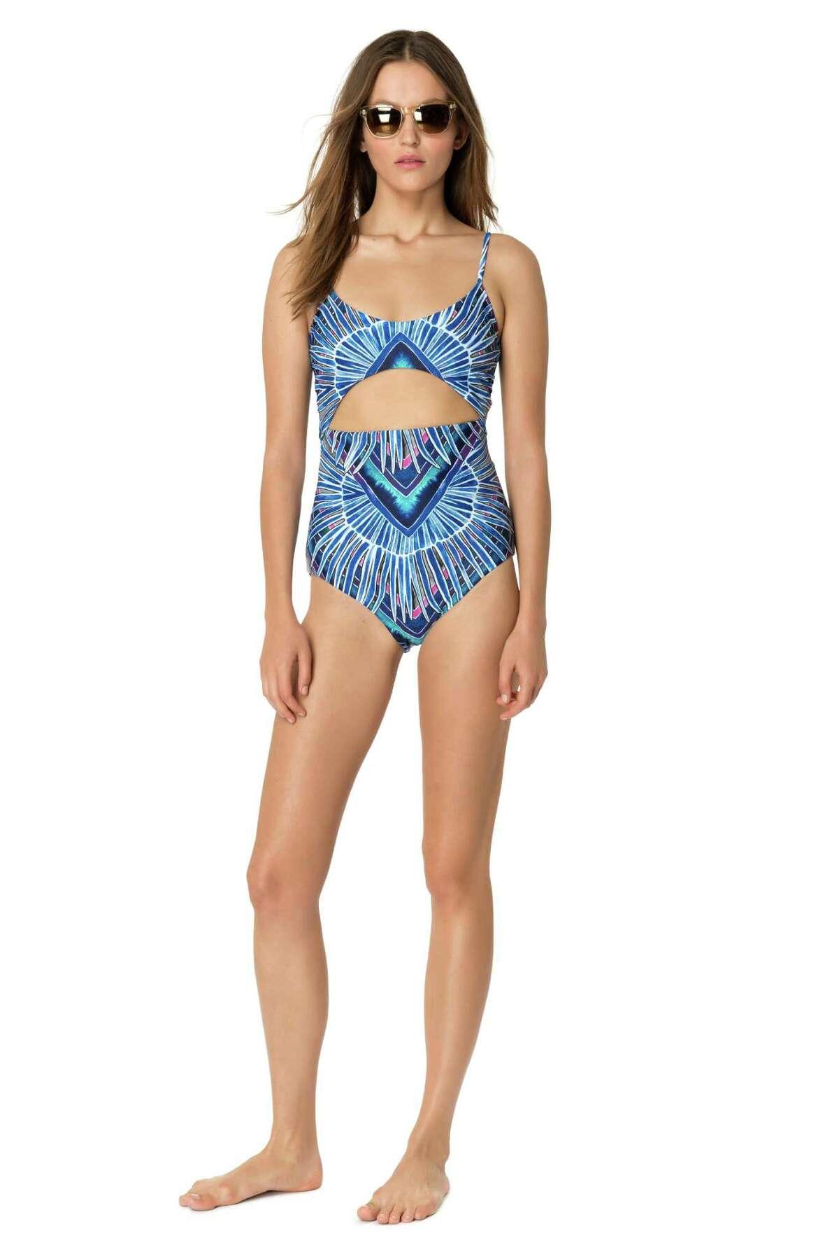 Mara Hoffman front cutout maillot, $248, marahoffman.com.