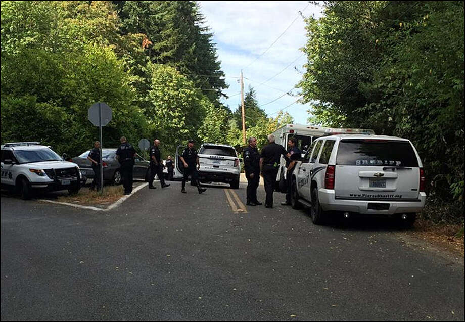 Authorities evacuated the Lakebay Marina Tuesday after a man fired shots from a boat and threatened to blow up the marina. Photo: KOMO