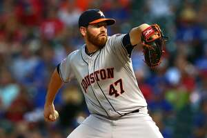 Dan Straily can't stop bleeding in three-run fifth inning as Astros fall to Rangers - Photo