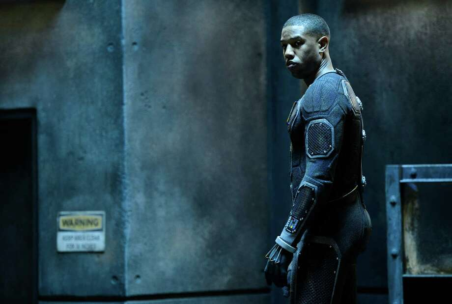 "This photo provided by Twentieth Century Fox shows, Michael B. Jordan as Johnny Storm, in a scene from the film, ""Fantastic Four,"" releasing in U.S. theaters on Aug. 7, 2015.  (Ben Rothstein/Twentieth Century Fox via AP) Photo: Ben Rothstein, HONS / Twentieth Century Fox"