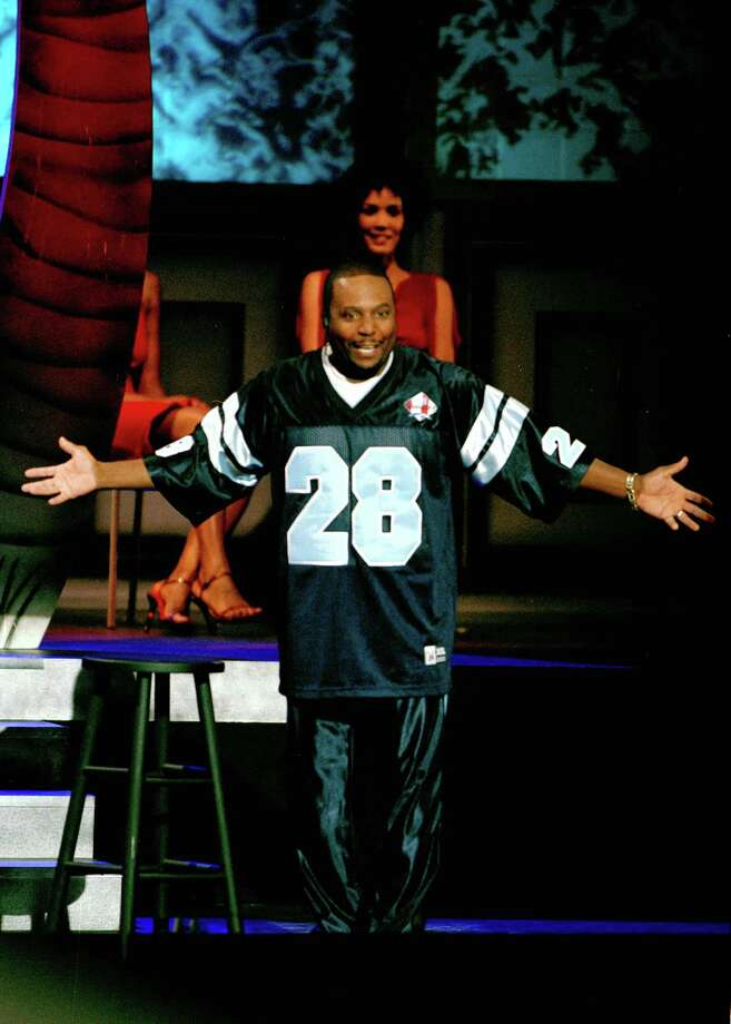 CONTACT FILED:  COMICVIEW (BET NETWORK)  Host Arnez J on stage during the live-on-tape taping of BET's ComicView show at the Wortham Theater's Brown Auditorium in Houston, Texas Wednesday evening July 31, 2002.  HOUCHRON CAPTION (08/02/2002):  ComicView host Arnez J. gets the crowd laughing during a live-on-tape taping of the show at   Wortham's Brown Theater on Wednesday. Photo: D Fahleson, Staff / Houston Chronicle