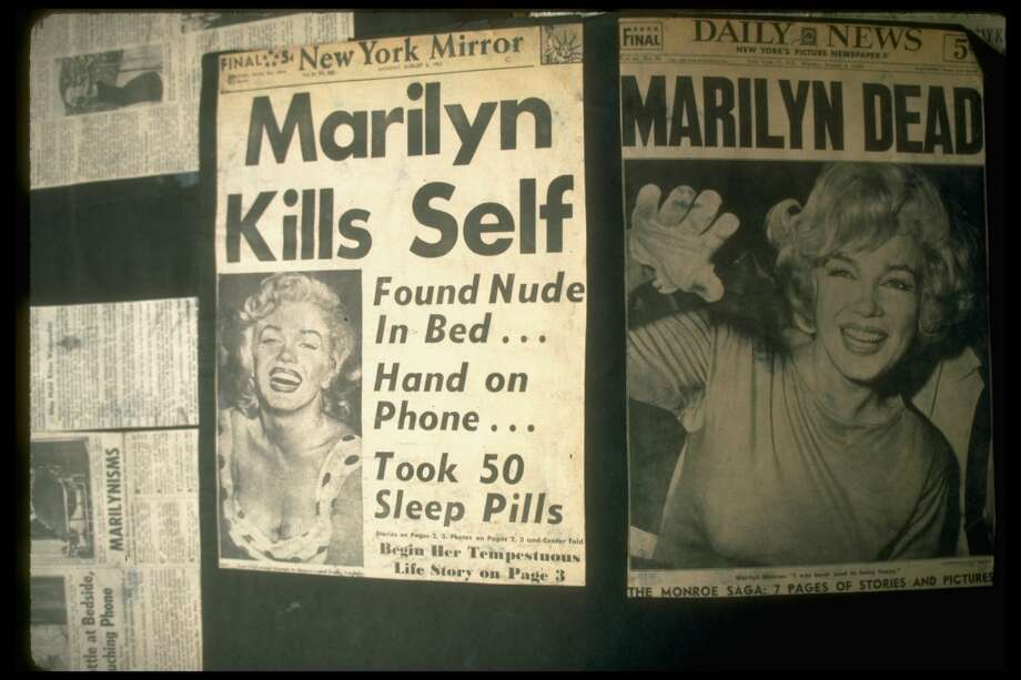 Front pages of the August 6, 1962 Daily News &New York Mirror headlining Marilyn Monroe's death/suicide.Keep clicking to check out photos from her home on the day she died. Photo: Joe Schilling, The LIFE Images Collection/Getty Images
