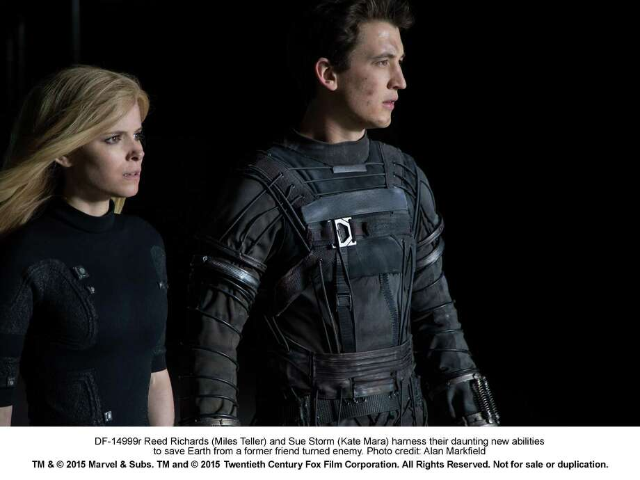 "kate Mara and Miles Teller star in ""Fantastic Four.""