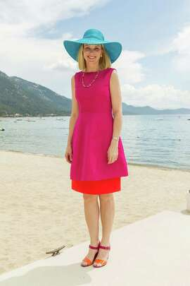 Marissa Mayer at the fashion show for the Oscar de la Renta Resort 2016 collection presented by Saks Fifth Avenue and The League to Save Lake Tahoe on August 1, 2015.