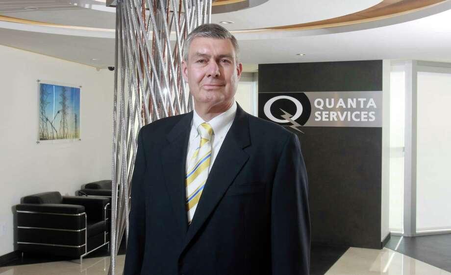 (For the Chronicle/Gary Fountain, June 3, 2013) James F. O'Neil, CEO of Quanta Services. Photo: Gary Fountain, Freelance / Copyright 2013 Gary Fountain