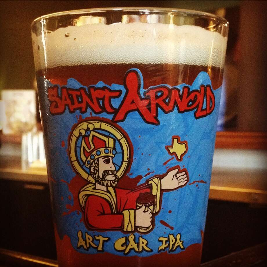 This week Saint Arnold Brewing Company, Texas' oldest craft brewery, debuts a beer devoted to one of Houston's most-beloved art events, the Houston Art Car Parade. Art Car IPA goes on tap at select bars around Houston starting Thursday. Photo: Saint Arnold Brewing Company
