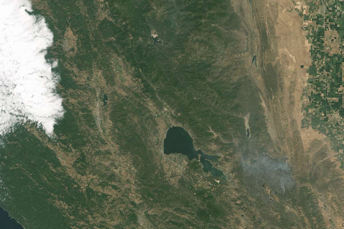 A look at the Rocky Fire taken from space, courtesy of the NASA Earth Observatory images by Joshua Stevens using Landsat data from the U.S. Geological Survey.