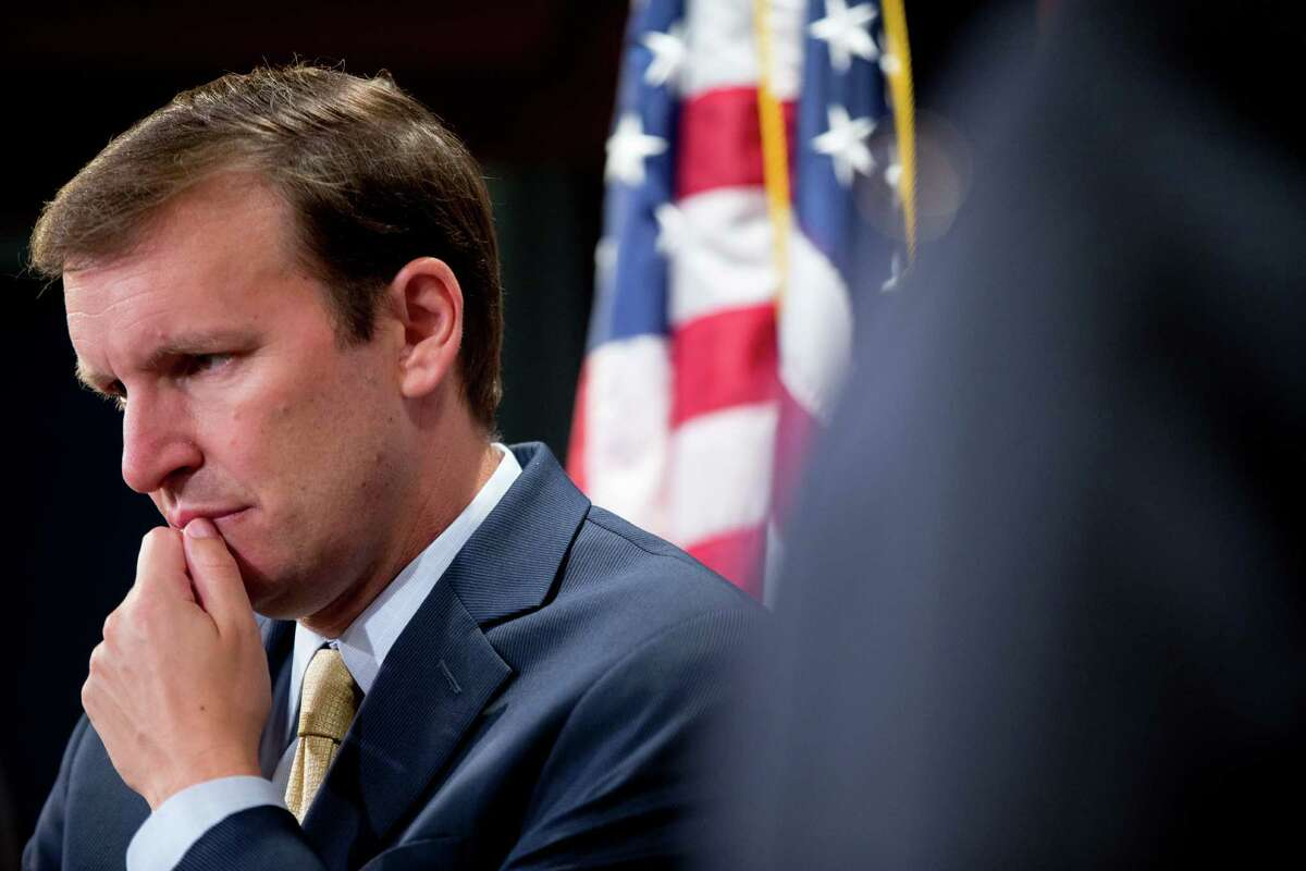 Sen. Chris Murphy, D-Conn., at a press conference in Washington, DC in July. In a speech on the Senate floor on Wednesday, Aug. 5, 2015, Murphy said he was going to support the Iran nuclear agreement.