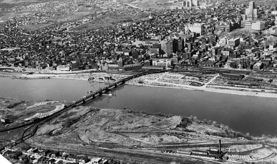Albany riverfront, May 24, 1962. (Times Union Archive)