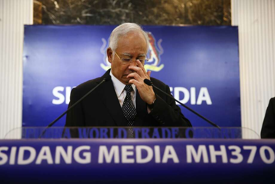 """Primier Najib Razak said the discovery """"will at least bring certainty to the (victims') families."""" Photo: Vincent Thian, Associated Press"""