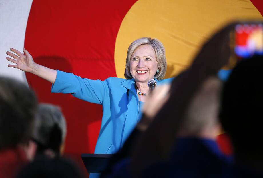 Democratic presidential candidate Hillary Rodham Clinton greets supporters before speaking at a campaign rally in Denver. Photo: Brennan Linsley, Associated Press