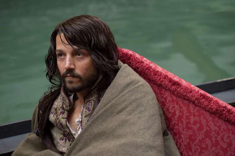 """Diego Luna in the title role of """"Casanova,"""" who escapes prison and starts over in Paris. Photo: Bruno Calvo"""