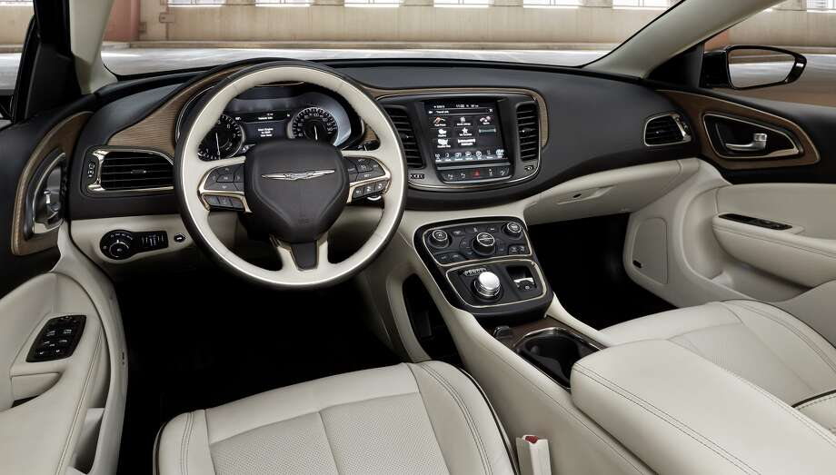 The 200 sedan features interior trim and materials that are well-crafted, pleasing to the eye, soft to the touch and comprised of high-quality materials. Photo: Chrysler