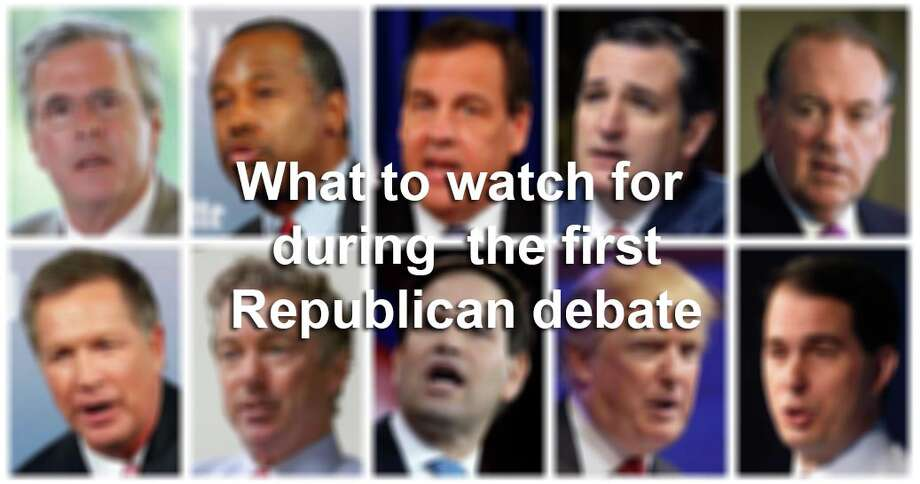 Here are eight things to watch for during the first Republican debate of the 2016 presidential election cycle.