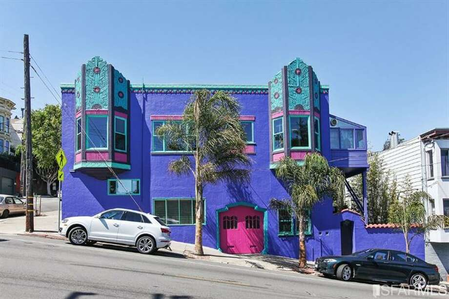 This purple Deco masterpiece is recognized by the Art Deco Society of California for historic preservation. Photo: Curbed SF/MLS