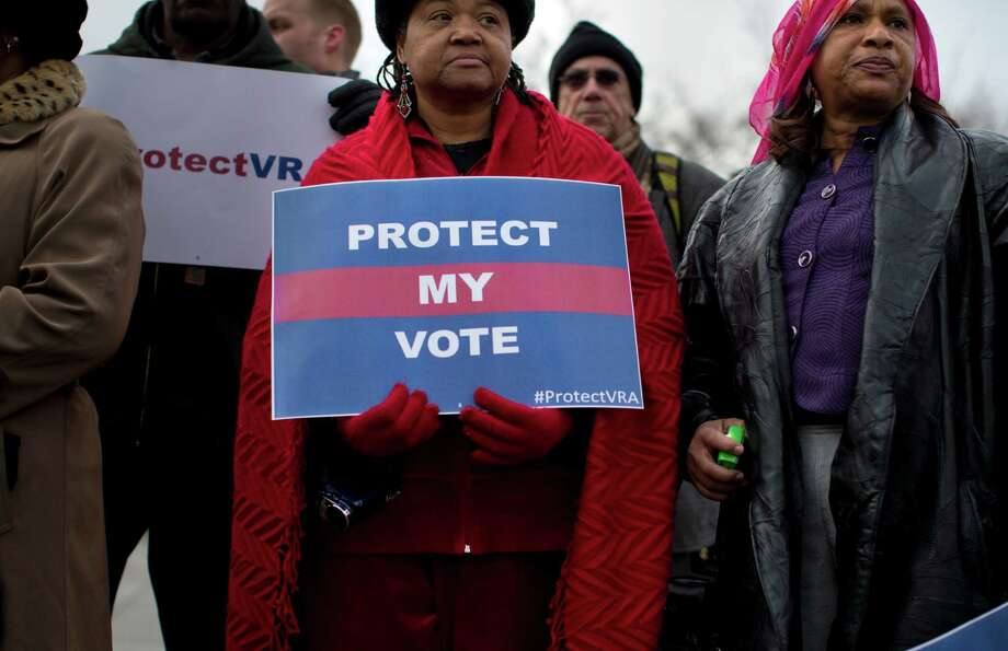 What there is evidence of is the fact that voting has become more  difficult, not less, since a 2013 Supreme Court ruling that weakened the  Voting Rights Act.  Photo: Evan Vucci /Associated Press / AP
