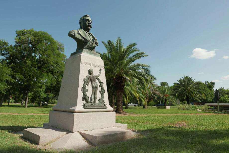 Ludwig Mahncke, an immigrant from Germany, was San Antonio's parks commissioner in the late 1800s and early 1900s. He was largely responsible for the development of Brackenridge Park. This monument to him was placed in Mahncke Park in his honor in 1909. Photo: Billy Calzada, Staff / San Antonio Express-News / San Antonio Express-News
