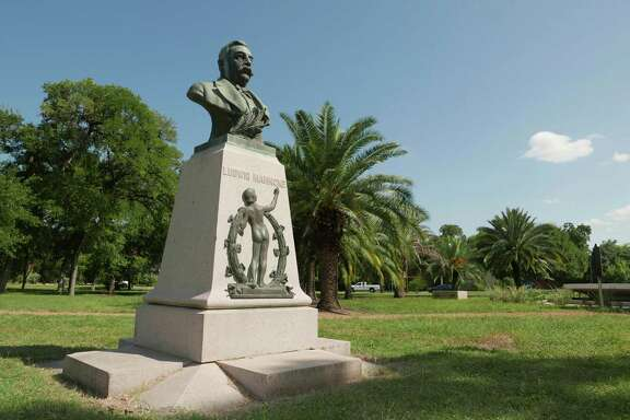 Ludwig Mahncke, an immigrant from Germany, was San Antonio's parks commissioner in the late 1800s and early 1900s. He was largely responsible for the development of Brackenridge Park. This monument to him was placed in Mahncke Park in his honor in 1909.