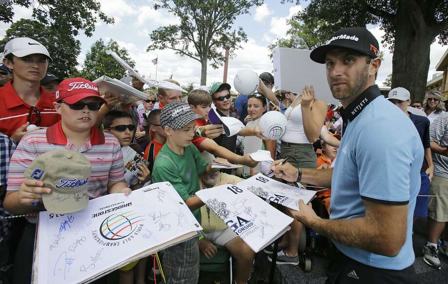 Dustin Johnson has been accused by one golf analyst of being Sergio Garcia-esque in majors. Photo: Tony Dejak, Associated Press