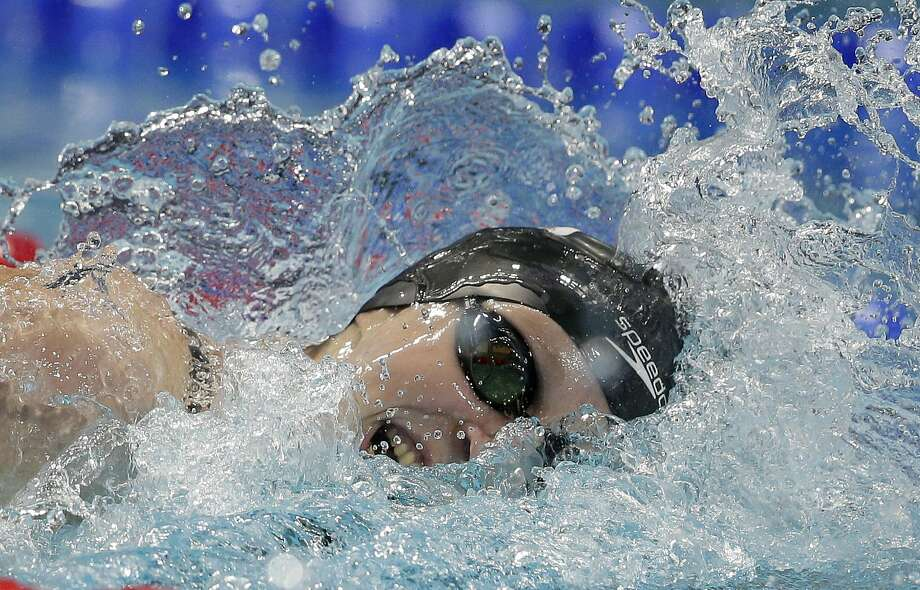 Katie Ledecky has won two gold medals at these world championships and has the 400 and 800 freestyles remaining. Photo: Michael Sohn, Associated Press