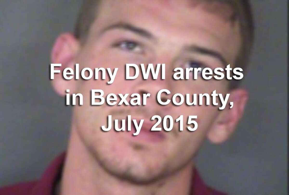 Scroll through the above gallery to view the booking photos of 69 people arrested in Bexar County on felony drunken driving charges in July 2015.